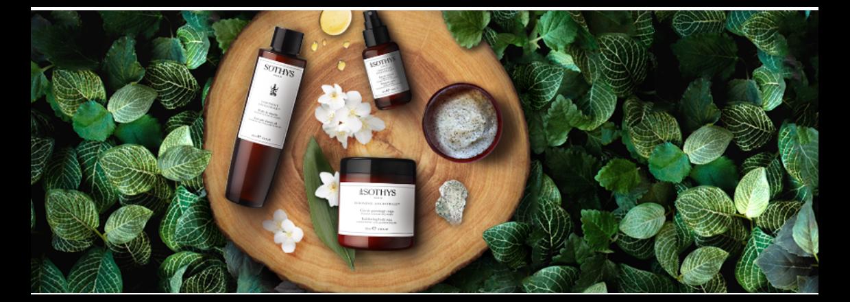 Naturlige aktive ingredienser skabt af Sothys® der viser mærkets engagement i bæredygtig udvikling